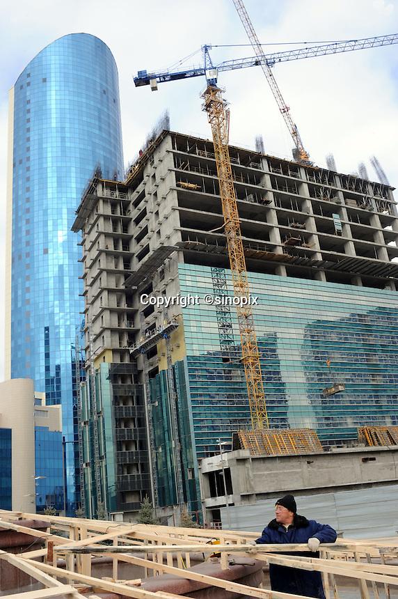 Building continues in Astana, the capitol of Kazakstan.<br /> <br /> PHOTO BY RICHARD JONES/SINOPIX