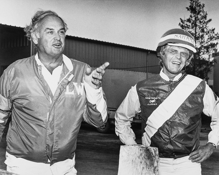 Sen. Lowell P. Weicker, R-Conn. with George Plimpton in 1986. (Photo by CQ Roll Call)