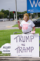 Trump Protestors at Hillary Clinton & Al Gore Rally in Miami, FL on October 11, 2016