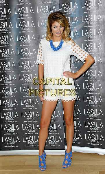 LONDON, ENGLAND - JUNE 19: Chloe Sims attends a photocall to launch Lasula Collection at The Groucho Club on June 19, 2014 in London, England.<br /> CAP/CJ<br /> &copy;Chris Joseph/Capital Pictures
