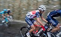 Vincenzo Nibali (ITA/Trek-Segafredo) racing in torrential rains up Il Piccolo Stelvio at <br /> Grande Trittico Lombardo 2020 (1.Pro/ITA)<br /> 1 day race from Legnano to Varese (200km)