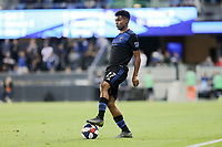 SAN JOSE, CA - JULY 06: Marcos Lopez #27 during a Major League Soccer (MLS) match between the San Jose Earthquakes and Real Salt Lake on July 06, 2019 at Avaya Stadium in San Jose, California.