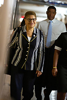 United States Representative Karen Bass (Democrat of California) and United States Representative Cedric Richmond (Democrat of Louisiana) arrive to the Democratic Caucus on Capitol Hill in Washington D.C., U.S. on June 11, 2019.<br />  <br /> Credit: Stefani Reynolds / CNP/AdMedia