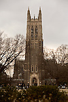 February 23, 2015. Durham, North Carolina.<br />  The Duke Chapel, completed in 1932, stands over 200 feet tall and is the center piece of Duke University's West Campus.