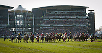LIVERPOOL - APRIL 14: Horses start in the Randox Health Grand National Steeplechase at Aintree Racecourse in Liverpool, UK (Photo by Sophie Shore/Eclipse Sportswire/Getty Images)