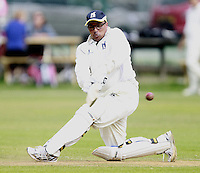 Keith Piper bats for South Hampstead during the Middlesex County Cricket League Division Three game between Highgate and South Hampstead at Park Road, Crouch End on Sat Aug 2, 2014