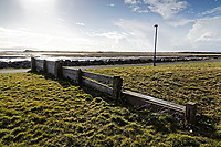 Pictured: The coastal path outside the town. Wednesday 09 March 2018<br /> Re: The effect that the Scarlets RFC has had in the town of Llanelli in Carmarthenshire and the west Wales region.