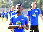 04.09.2019, Sportpark, Berlin, GER, 1.FBL, DFL,, Hertha BSC Training,<br /> DFL, regulations prohibit any use of photographs as image sequences and/or quasi-video<br /> im Bild Salomon Kalou  (Hertha BSC Berlin #8)<br /> <br />       <br /> Foto © nordphoto / Engler