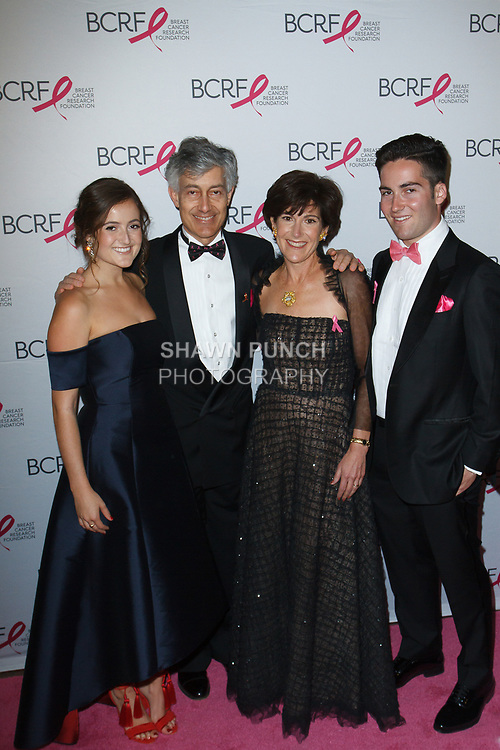 "L-R Elian Lauder, Gary Lauder, Laura Lauder attend The Breast Cancer Research Foundation ""Super Nova"" Hot Pink Party on May 12, 2017 at the Park Avenue Armory in New York City."