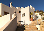 Modern architecture tourist accommodation, Los Presillas Bajas, Cabo de Gata natural park, Almeria, Spain