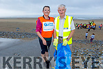 Linda Field and Donal Dowling from Banna taking part in the Banna Beach Clean up of rubbish on Saturday.