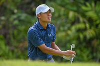 Lloyd Jefferson GO (PHI) watches his tee shot on 7 during Rd 4 of the Asia-Pacific Amateur Championship, Sentosa Golf Club, Singapore. 10/7/2018.<br /> Picture: Golffile | Ken Murray<br /> <br /> <br /> All photo usage must carry mandatory copyright credit (© Golffile | Ken Murray)