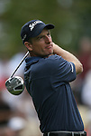 7 September 2008:   Jim Furyk tees off in the fourth and final round of play at the BMW Golf Championship at Bellerive Country Club in Town & Country, Missouri, a suburb of St. Louis, Missouri on Sunday September 7, 2008. The BMW Championship is the third event of the PGA's  Fed Ex Cup Tour.