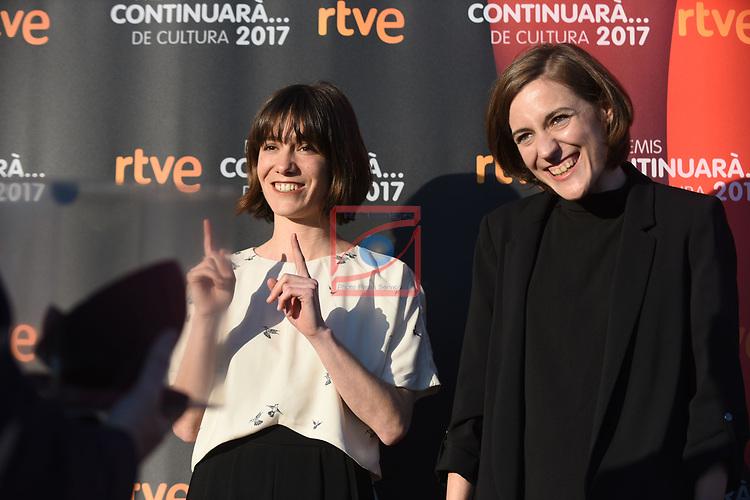 Premis Dol&ccedil;os Continuara de Cultura, Edicio 2017.<br /> Bruna Cusi &amp; Carla Simon.