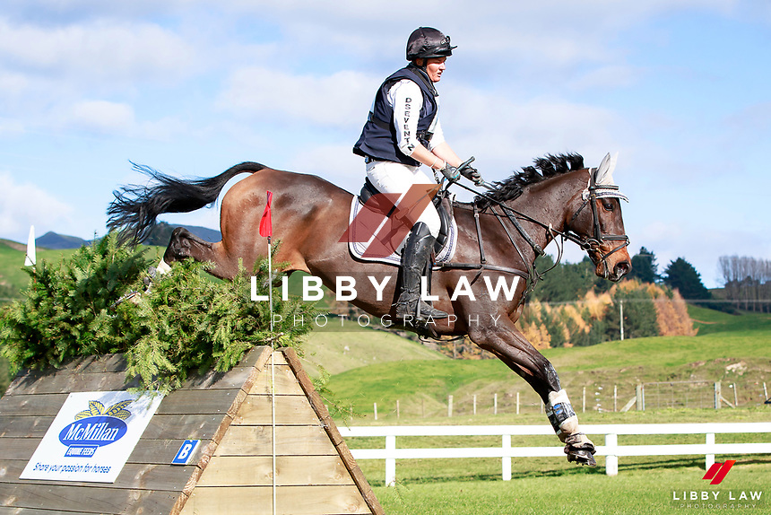 Donna Edwards-Smith rides DSE Tangolooma into third position during the NRM CCI3* Championship Cross Country at the 2017 NZL-NRM National Three Day Event Championships. National Equestrian Center, Taupo. Saturday 13 May. Copyright Photo: Libby Law Photography