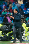 Coach Javier Calleja, Javi Calleja, of Villarreal CF reacts during the La Liga 2017-18 match between Real Madrid and Villarreal CF at Santiago Bernabeu Stadium on January 13 2018 in Madrid, Spain. Photo by Diego Gonzalez / Power Sport Images
