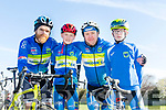 Enjoying the The Fenit Coastal Cycle in aid of St. Brendan's National School on Saturday were Dylan O'Sullivan, Adan Lenihan, Paudie O'Sullivan and Maurice Lenihan