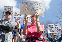 NWA Democrat-Gazette/CHARLIE KAIJO Protestors demonstrate during the &quot;March For Our Lives&quot; rally, Saturday, March 24, 2018 at the Bentonville Square in Bentonville. <br /> <br /> &ldquo;March For Our Lives&rdquo; is a march against gun violence. &quot;[We're] just a group of kids who got together one day and wanted to make a change,&quot; said Taylor Gibson, 16, a student at Bentonville West High School. She is one of nine students from area high schools including Bentonville West, Bentonville High, Gravette and Haas Hall who organized the rally. The rally is in solidarity with more than 800 protests around the world according to &quot;March For Our Lives&quot; organizers