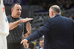 Referee technical fault to Real Madrid coach Pablo Laso during Liga Endesa match between Real Madrid and Valencia Basket at Wizink Center in Madrid , Spain. March 25, 2018. (ALTERPHOTOS/Borja B.Hojas)