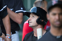 Grant Massey (16) of the Kannapolis Intimidators during the game against the Greenville Drive at Intimidators Stadium on June 7, 2016 in Kannapolis, North Carolina.  The Drive defeated the Intimidators 5-2 in game two of a double header.  (Brian Westerholt/Four Seam Images)