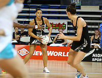 22.01.2015 Silver Ferns Grace Rasmussen in action during the netball test match between the Silver Ferns and Fiji at the Vodafone Arena in Suva Fiji. Mandatory Photo Credit ©Michael Bradley.