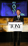 William Ivey Long (Chairman, The American Theatre Wing) announces the 2013 Tony Award Nominations at The New York Public Library for Performing Arts in New York on 4/30/2013...