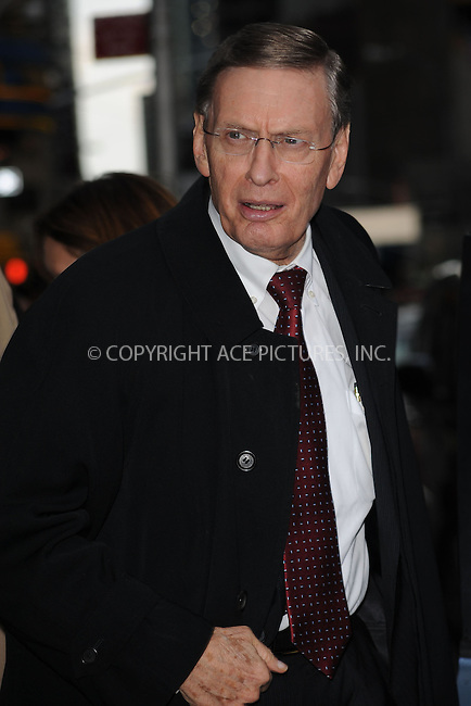 WWW.ACEPIXS.COM . . . . . ....October 28 2009, New York City....Major League Baseball Commissioner Bud Selig arriving at the 'Late Show with David Letterman' on October 28 2009 in New York city....Please byline: KRISTIN CALLAHAN - ACEPIXS.COM.. . . . . . ..Ace Pictures, Inc:  ..tel: (212) 243 8787 or (646) 769 0430..e-mail: info@acepixs.com..web: http://www.acepixs.com