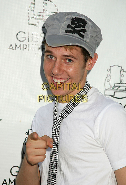 "BENJI SCHWIMMER.""So You Think You Can Dance"" 2006 Tour, Universal City, California, USA..September 16th, 2006.Ref: ADM/BP.half length white tee shirt tie black pointing hat baseball cap.www.capitalpictures.com.sales@capitalpictures.com.©Byron Purvis/AdMedia/Capital Pictures."