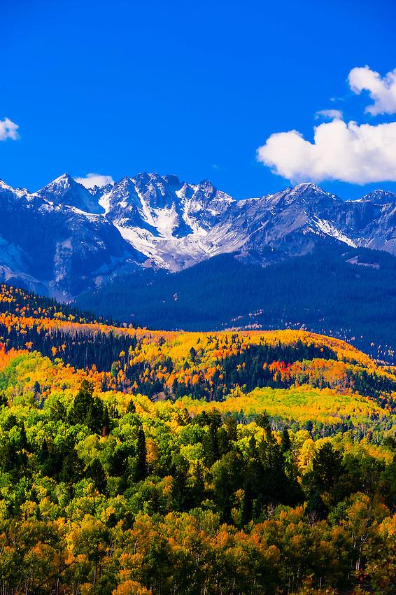Fall color, San Juan Mountains, Colorado USA.