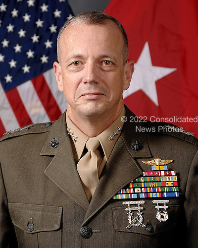 Tampa, FL - (FILE) -- File photo taken August 20, 2009 of Lieutenant General John R. Allen, who became Deputy Commander, United States Central Command, on 15 July 2008.  Following commissioning, he attended The Basic School and was assigned to Second Battalion, 8th Marines, where he served as a platoon and rifle company commander. His next tour took him to Marine Barracks at 8th and I, Washington, D.C., where he served at the Marine Corps Institute and as a ceremonial officer. Lieutenant General Allen then attended, and was the Distinguished Graduate of the Postgraduate Intelligence Program of the Defense Intelligence College. He would serve subsequently as the Marine Corps Fellow to the Center for Strategic and International Studies (CSIS). He was the first Marine Corps officer inducted as a Term Member of the Council on Foreign Relations..Credit: DoD via CNP