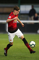 James Garner of Manchester United U23's in action during Fulham Under-23 vs Manchester United Under-23, Premier League 2 Football at Motspur Park on 10th August 2018
