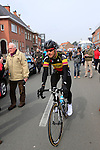 Belgian National Champion Tom Boonen (BEL) Omega Pharma-Quick Step makes his way to the start of the 56th edition of the E3 Harelbeke, Belgium, 22nd  March 2013 (Photo by Eoin Clarke 2013)