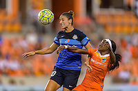 Houston, TX - Sunday June 19, 2016: FC Kansas City midfielder Yael Averbuch (10), Houston Dash forward Chioma Ubogagu (9) during a regular season National Women's Soccer League (NWSL) match between the Houston Dash and FC Kansas City at BBVA Compass Stadium.