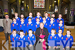 Smiles all around by the pupils of Pat Costello from CBS Primary School, Clounalour, Tralee, on Friday as Bishop Bill Murphy confirmed them in St Johns Church, Tralee. Front row l-r: Eric OBrien, Rory Lyons, Sean Moloney, Eoin Quirke, Michael Kelliher and Michael Healy. Middle row l-r: Lawrence Kelly, Bartosz Lelental, Stephen Sugrue, John Panxhi, Jake Moran, Edward Hanlon and Jason Danagher. Back row l-r: Brian Carey, Leon Evans, Jonathon Tuohy, Owen McGovern, Jack Dillane, John Moran and Michael Lynch..
