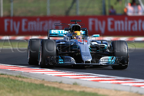 July 27th 2017, Hungaroring, Mogyoród, Hungary; Formula One Grand Prix of Hungary, free practise sessions; Lewis Hamilton - Mercedes AMG Petronas F1 W08 EQ Energy+