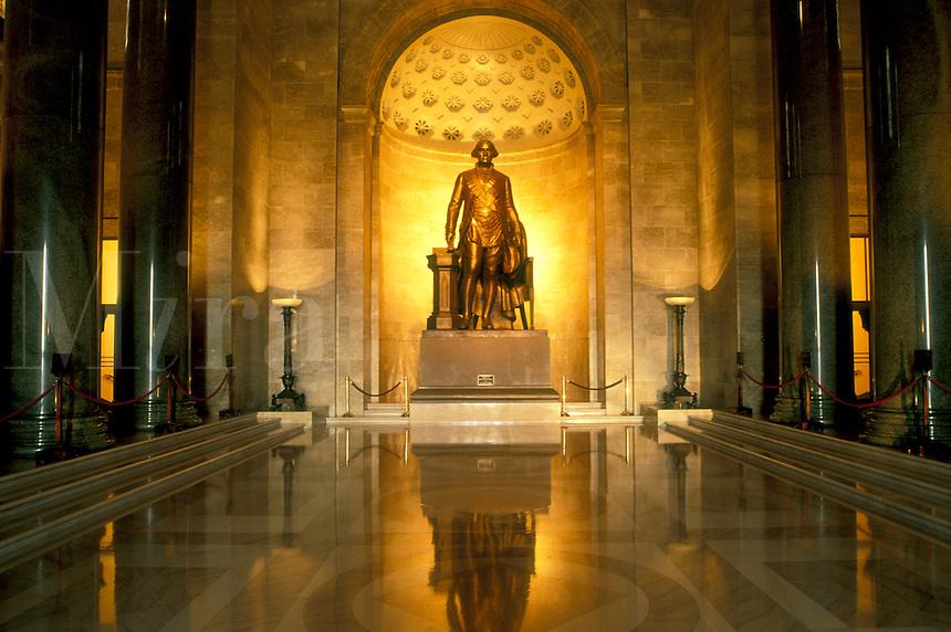 Alexandria, VA, Virginia, Statue of George Washington in Memorial Hall inside The George Washington Masonic National Memorial in Alexandria.