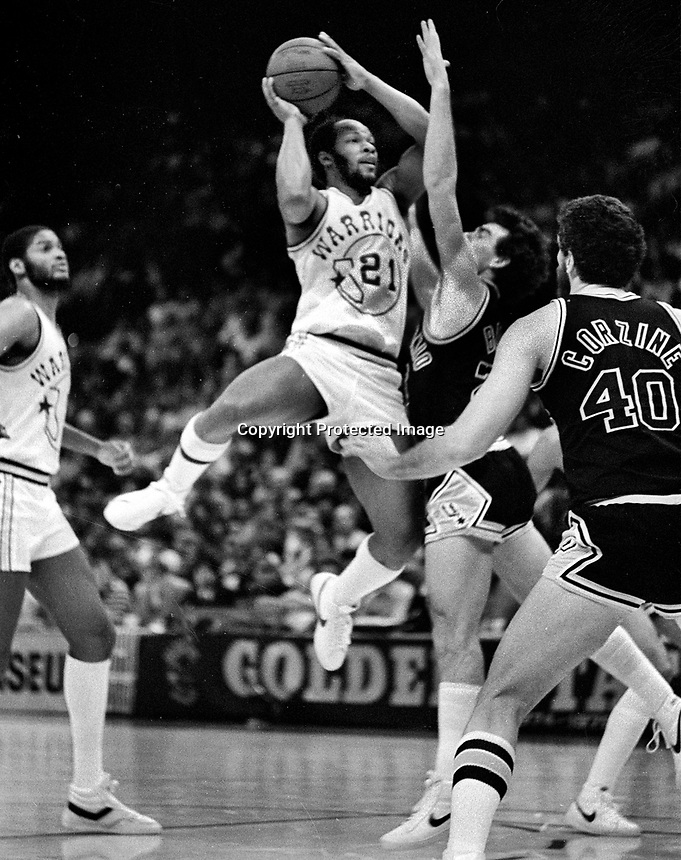 Warriors World Free against the San Antyo nio Spurs...(1982 photo/Ron Riesterer)