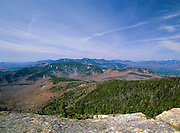 Scenic views of the White Mountain National Forest from Mount Chocorua located in the White Mountains, New Hampshire USA