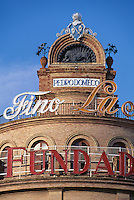 Sherry-Reklame in Jerez de la Frontera, Andalusien, Spanien
