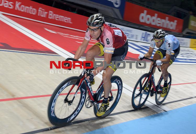 12.01.2015, &Ouml;VB Arena, Bremen, GER, Sixdays Bremen, im Bild Leif Lampater (Team Sparkasse #6), Christian Grasmann (Team &Ouml;VB #2)<br /> <br /> Foto &copy; nordphoto / Frisch