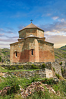 Picture &amp; image of Ateni Sioni Georgian Orthodox tetraconch Church, 7th century, Ateni, Georgia.<br /> <br /> Built in the 7th century following the ground plan of Jvari Monastery Ateni Sioni Georgian Orthodox follows a tetraconch cruciform layout with four apse with niches between each and a central cupola.
