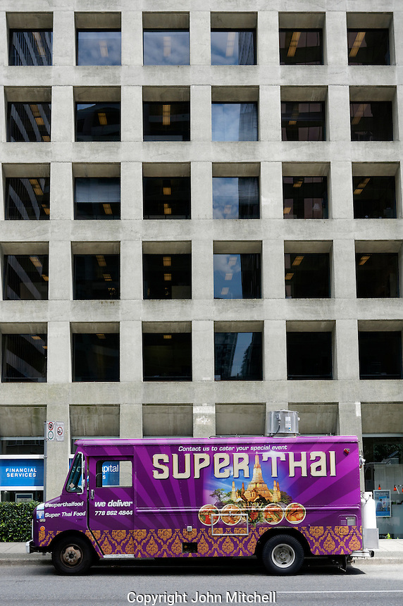 Thai food truck in downtown Vancouver, BC, Canada