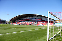 Fleetwood Town's Highbury Stadium<br /> <br /> Photographer Leila Coker/CameraSport<br /> <br /> The EFL Sky Bet League One - Fleetwood Town v Walsall - Saturday 5th May 2018 - Highbury Stadium - Fleetwood<br /> <br /> World Copyright &copy; 2018 CameraSport. All rights reserved. 43 Linden Ave. Countesthorpe. Leicester. England. LE8 5PG - Tel: +44 (0) 116 277 4147 - admin@camerasport.com - www.camerasport.com