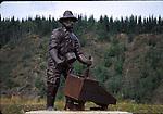 Miner statue in Dawson City