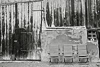 Austria three deck chairs in a row photo