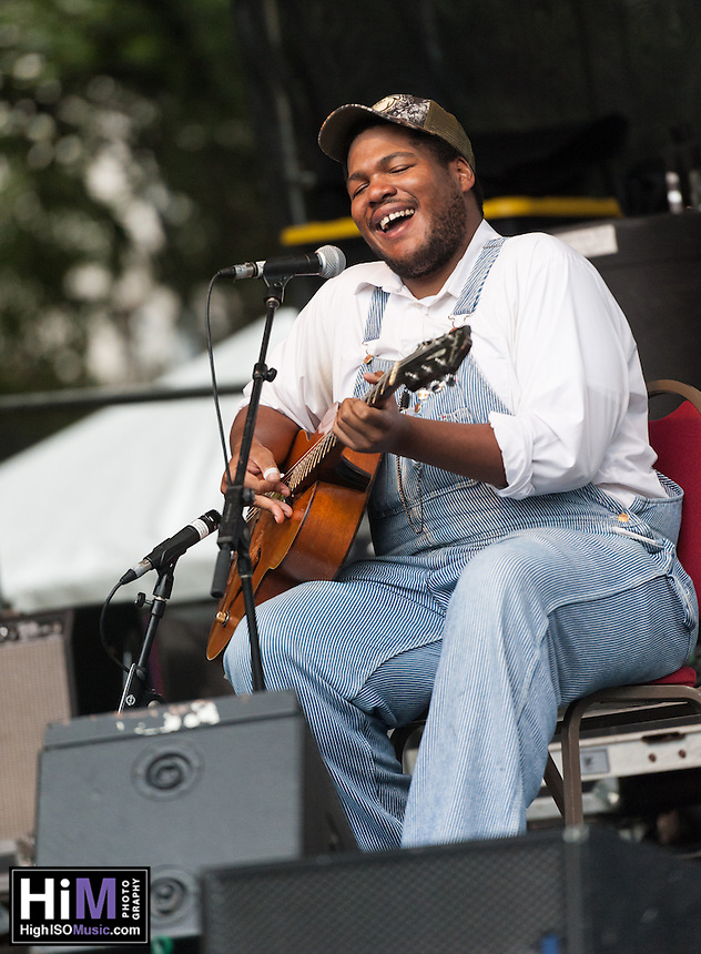 "Jerron ""Blind Boy"" Paxton performs at the 2013 Blues and BBQ Festival in New Orleans, LA."