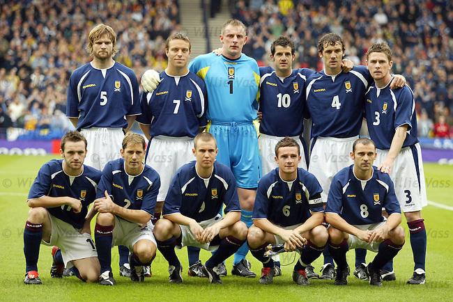 Scotland squad (vs Lithuania).Stock season 2003-2004.pic willie vass