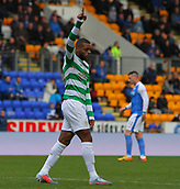 4th November 2017, McDiarmid Park, Perth, Scotland; Scottish Premiership football, St Johnstone versus Celtic; Celtic's Olivier Ntcham celebrates his goal