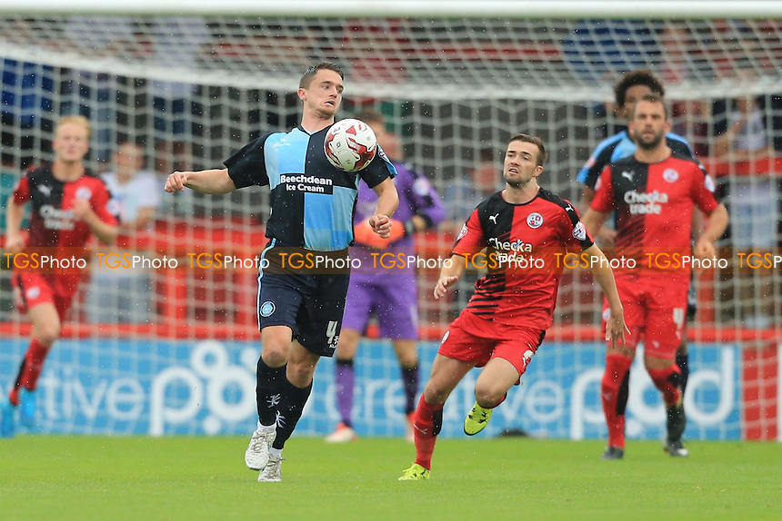Stephan McGinn of Wycombe Wanderers takes the ball down during Crawley Town vs Wycombe Wanderers, Sky Bet League 2 Football at Broadfield Stadium, Crawley, England on 29/08/2015