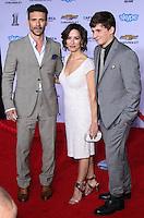 """HOLLYWOOD, LOS ANGELES, CA, USA - MARCH 13: Frank Grillo, Wendy Moniz, Liam Grillo at the World Premiere Of Marvel's """"Captain America: The Winter Soldier"""" held at the El Capitan Theatre on March 13, 2014 in Hollywood, Los Angeles, California, United States. (Photo by Xavier Collin/Celebrity Monitor)"""